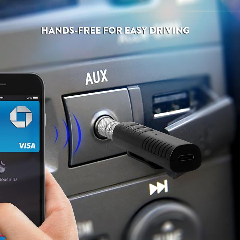Đầu Thu Bluetooth Receiver Tạo Kết Nối Âm Thanh 4.1 Rảnh Tay Wireless Adapter Chuyển Đổi Tai Nghe Thường Thành Tai Nghe Bluetooth V4.1