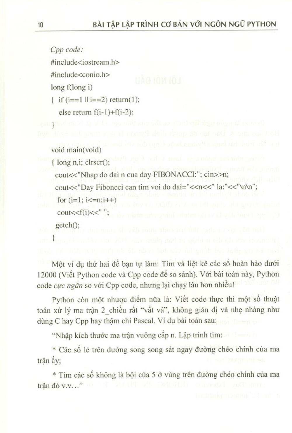 Bài Tập Lập Trình Cơ Bản Với Ngôn Ngữ Python