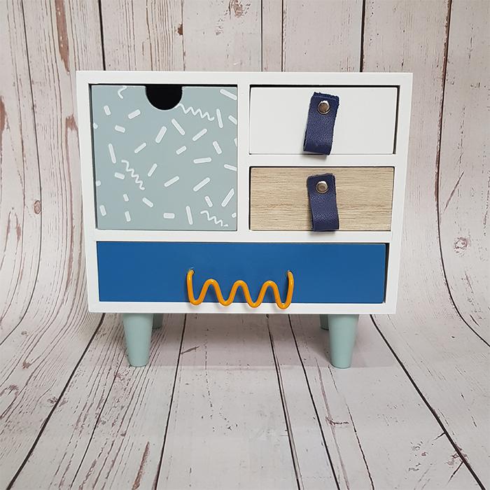 Tủ Gỗ Mini Đựng Đồ Trang Điểm - Hàng Thiết Kế - Không Cần Lắp Đặt
