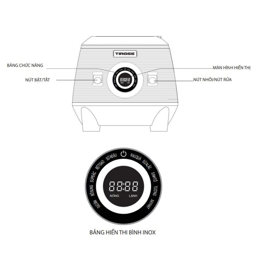 Máy Làm Sữa Hạt Đa Năng TS9821 - Hàng Chính Hãng (Tặng kèm ấm đun đa năng Tiross TS1366)