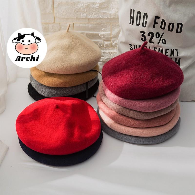 Mũ nồi beret dạ