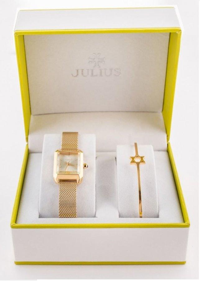Combo Bộ đôi đồng hồ Nữ Julius và lắc tay Julius BC-1013V