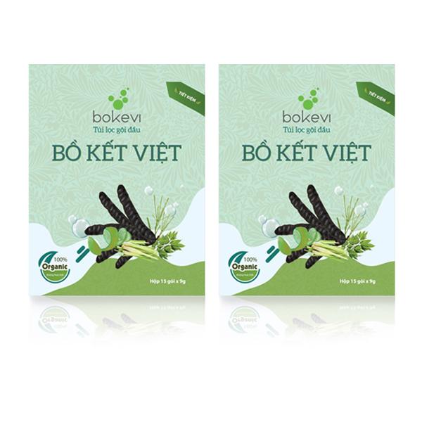 2 Hộp Túi Lọc Gội Đầu Bồ Kết Việt (dòng tiết kiệm)