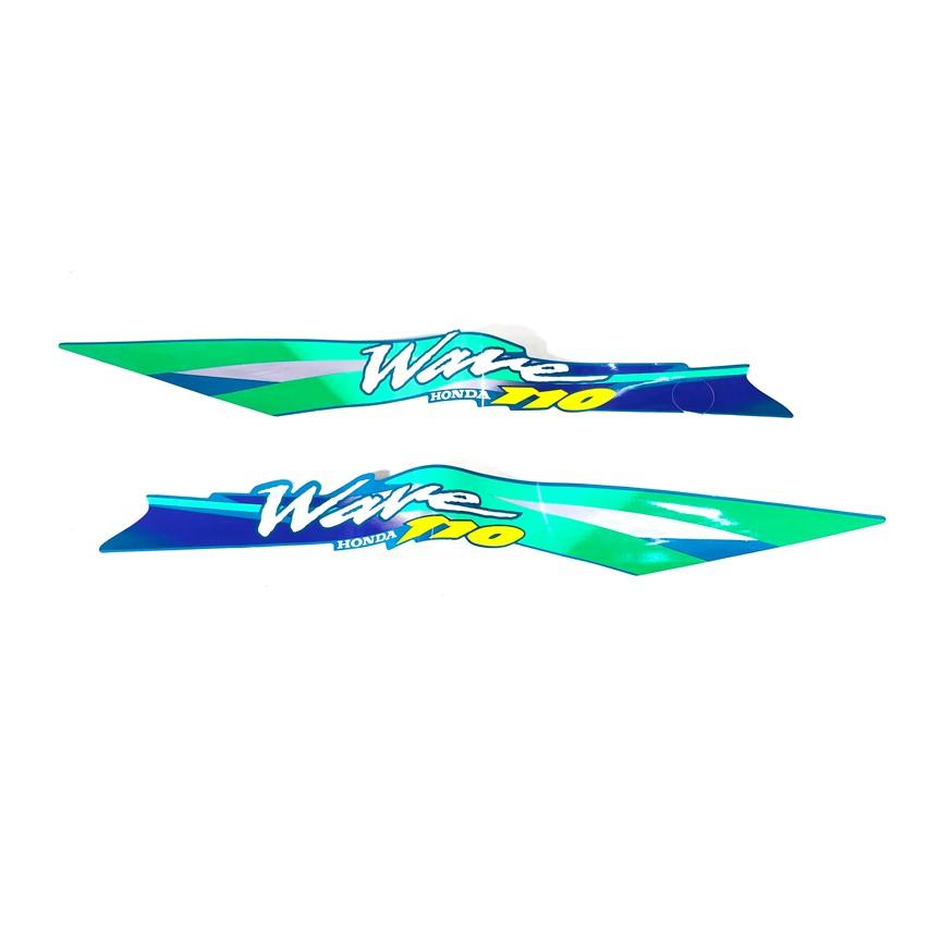 Tem xe WAVE THÁI 3 lớp WAVE S110 đời 2000 ( XANH NHỚT )