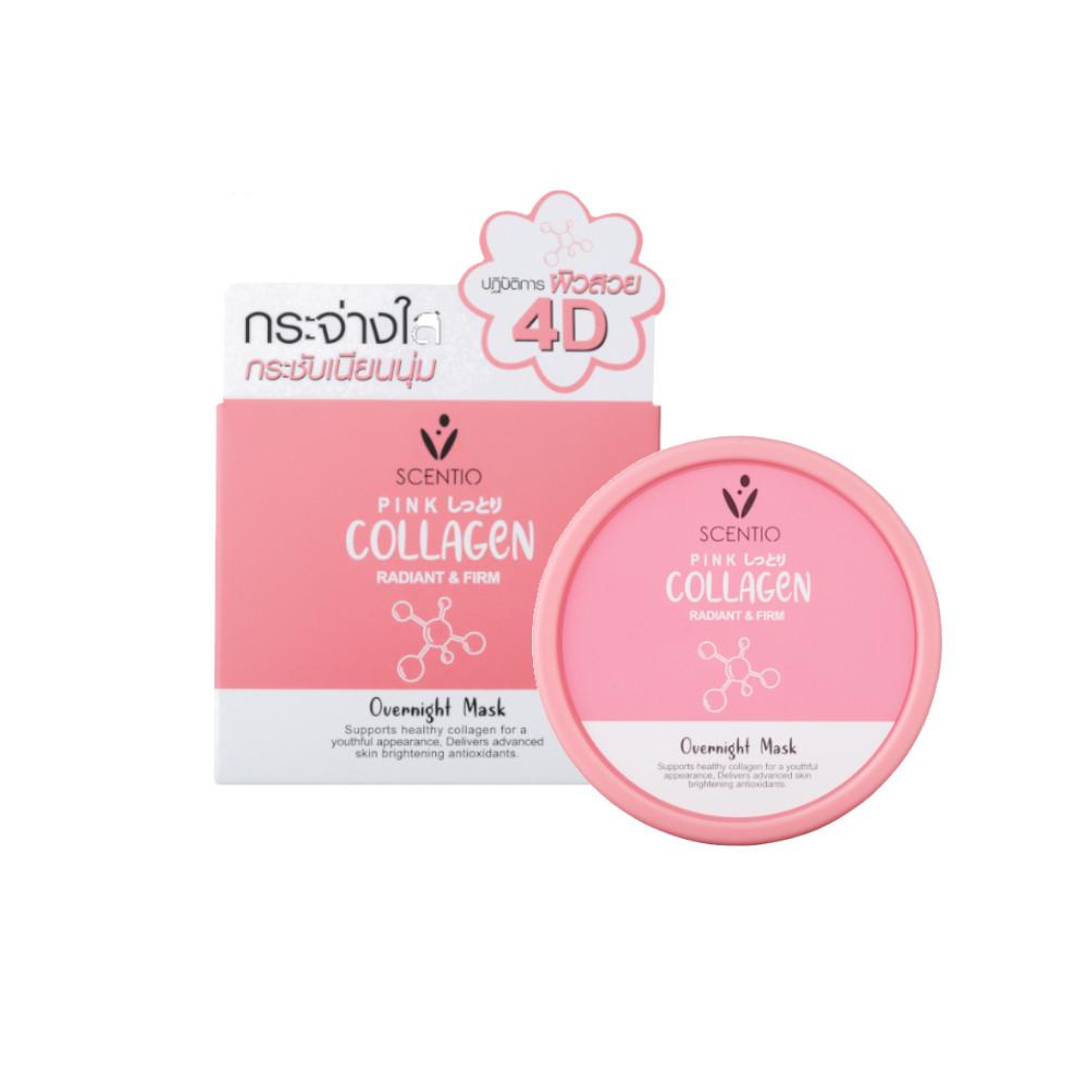 Mặt Nạ Ngủ Giúp Làm Trắng Và Săn Chắc Da Scentio Pink Collagen 100ml