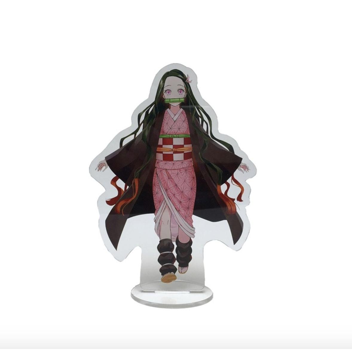 Tượng trang trí nhựa mica trong mô hình nhân vật Thanh gươm diệt quỷ 14cm (Chọn hình)