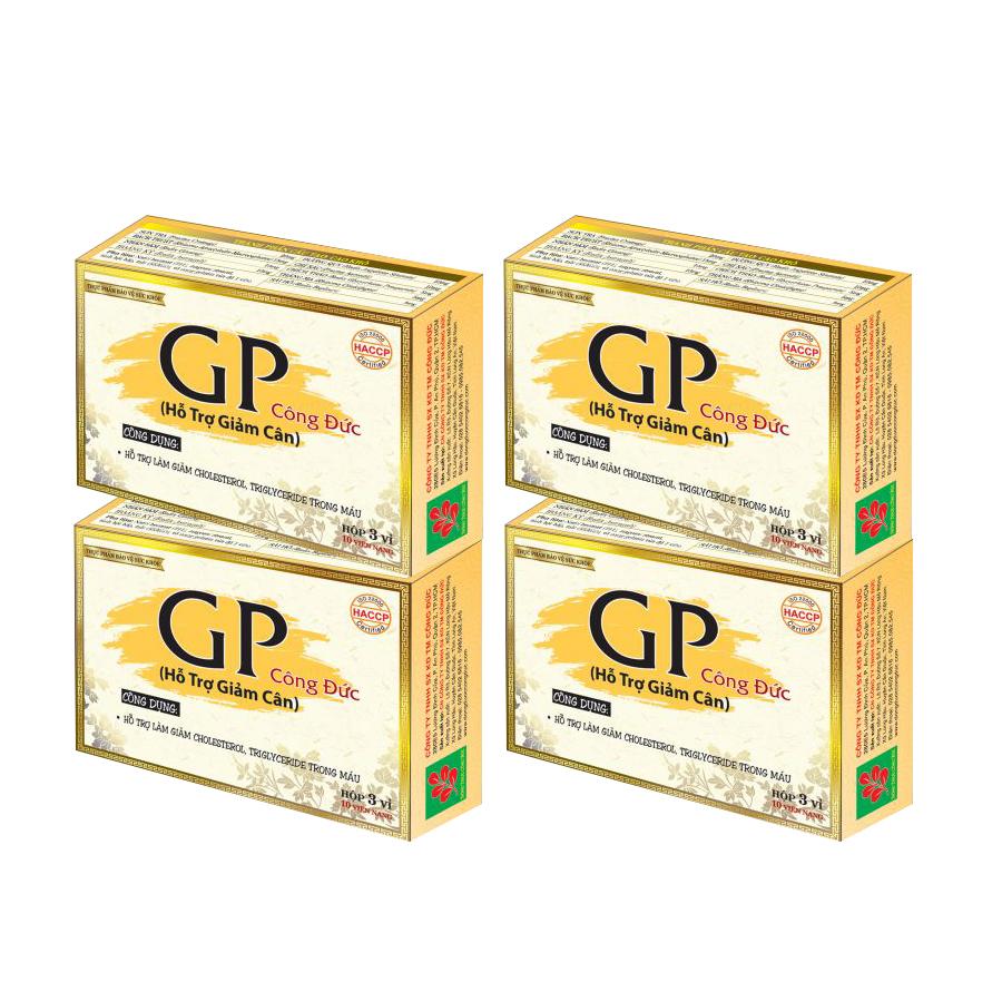 Combo 4 hộp thực phẩm chức năng bảo vệ sức khỏe GP Công Đức