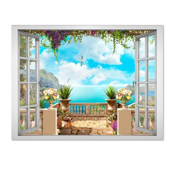 Decal cửa sổ cảnh đẹp VT0023