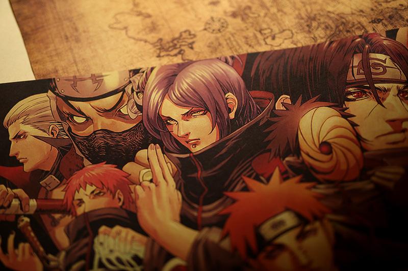 [B002] Tranh Cuộn Treo Tường Trang Trí Hình Nhân Vật Hoạt Hình Naruto ( Lục đạo luân hồi pain )