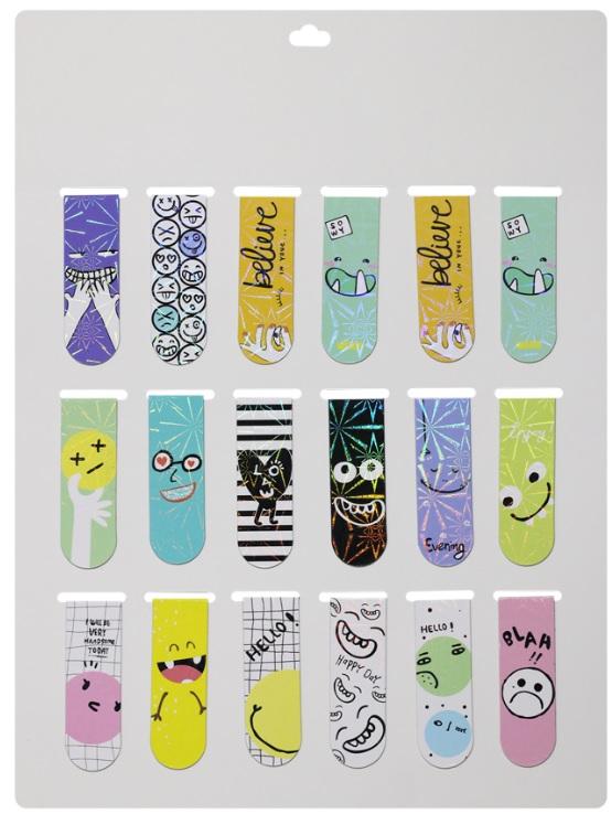 Combo 18 Bookmark Nam Châm Đánh Dấu Sách - Smile (Mẫu Ngẫu Nhiên)