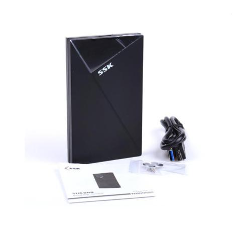 Box ổ cứng di động SSK SHE088 chuẩn 3.0 - tích hợp đèn led báo tín hiệu (đen) Hàng Nhập Khẩu