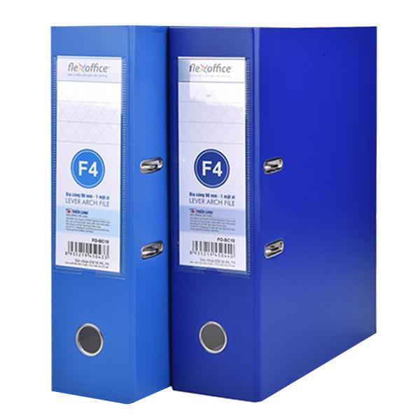 Bìa Còng Flexoffice F4 / Fo-BC10(1 Mặt Si) 90mm - Giao Màu Ngẫu Nhiên
