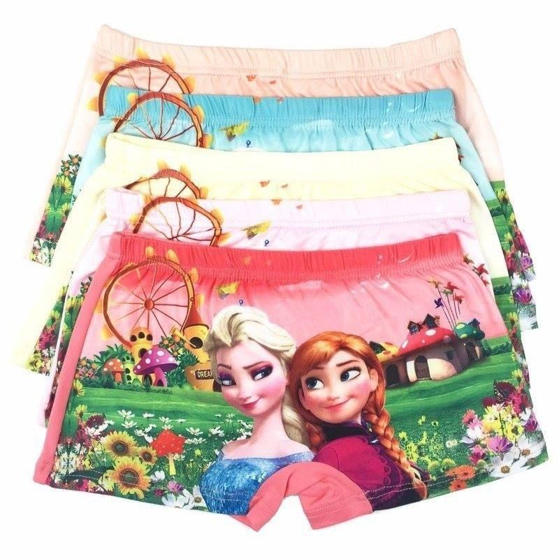 Sét 10 quần chíp đùi elsa 3D cực đẹp cho bé gái - mẫu ngẫu nhiên