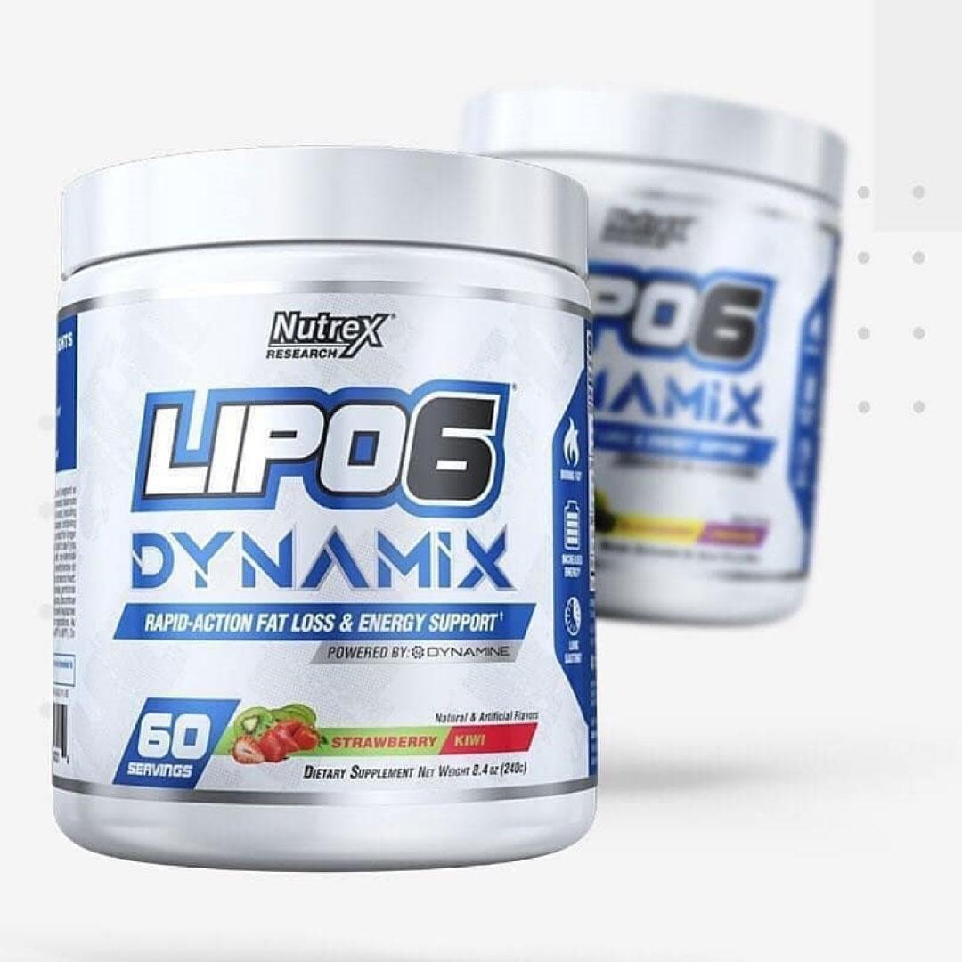Thực phẩm bổ sung Pre-workout Nutrex Lipo 6 Dynamix kết hợp đốt mỡ, tăng sức mạnh 2 trong 1 - vị Strawberry Kiwi - 60 liều dùng - Chính hãng BBT
