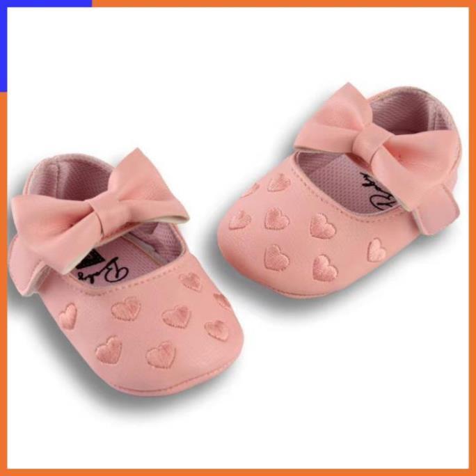 Giày tập đi đính nơ, hoạ tiết dễ thương cho bé | Giày tập đi cho bé