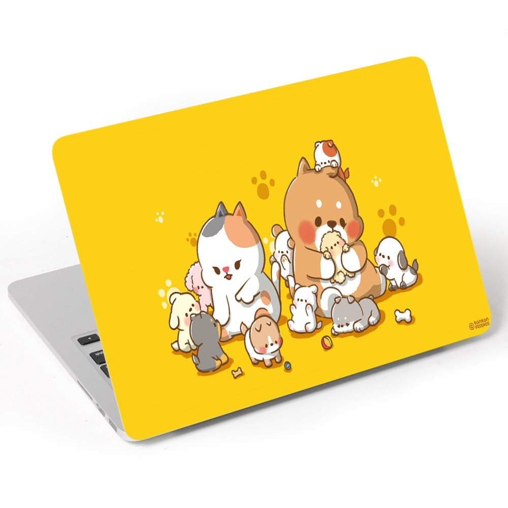 Miếng Dán Trang Trí Mặt Ngoài + Lót Tay Laptop Hoạt Hình LTHH - 689