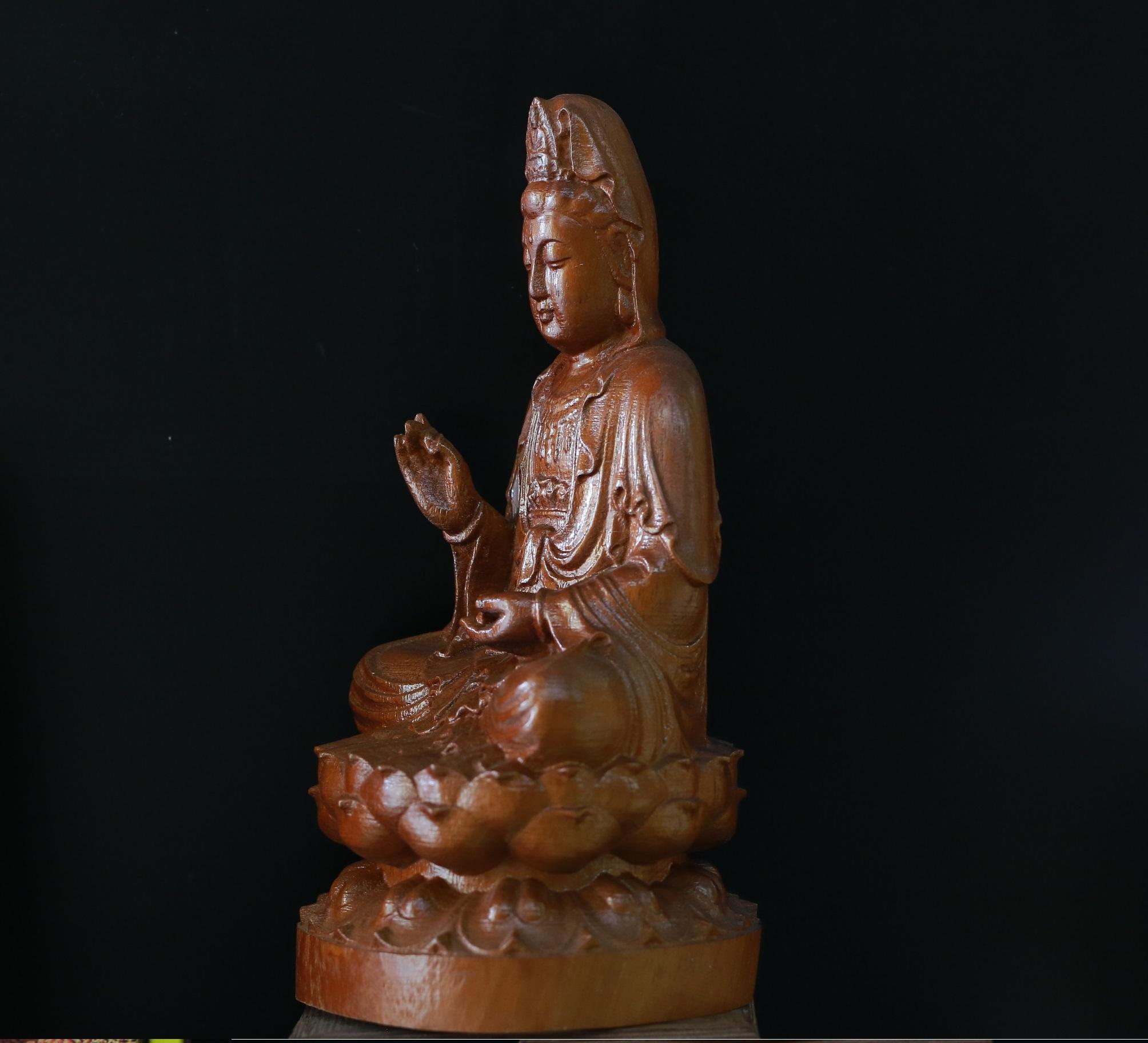 Tượng Gỗ Dâu Phật Quán Thế Âm Bồ Tát