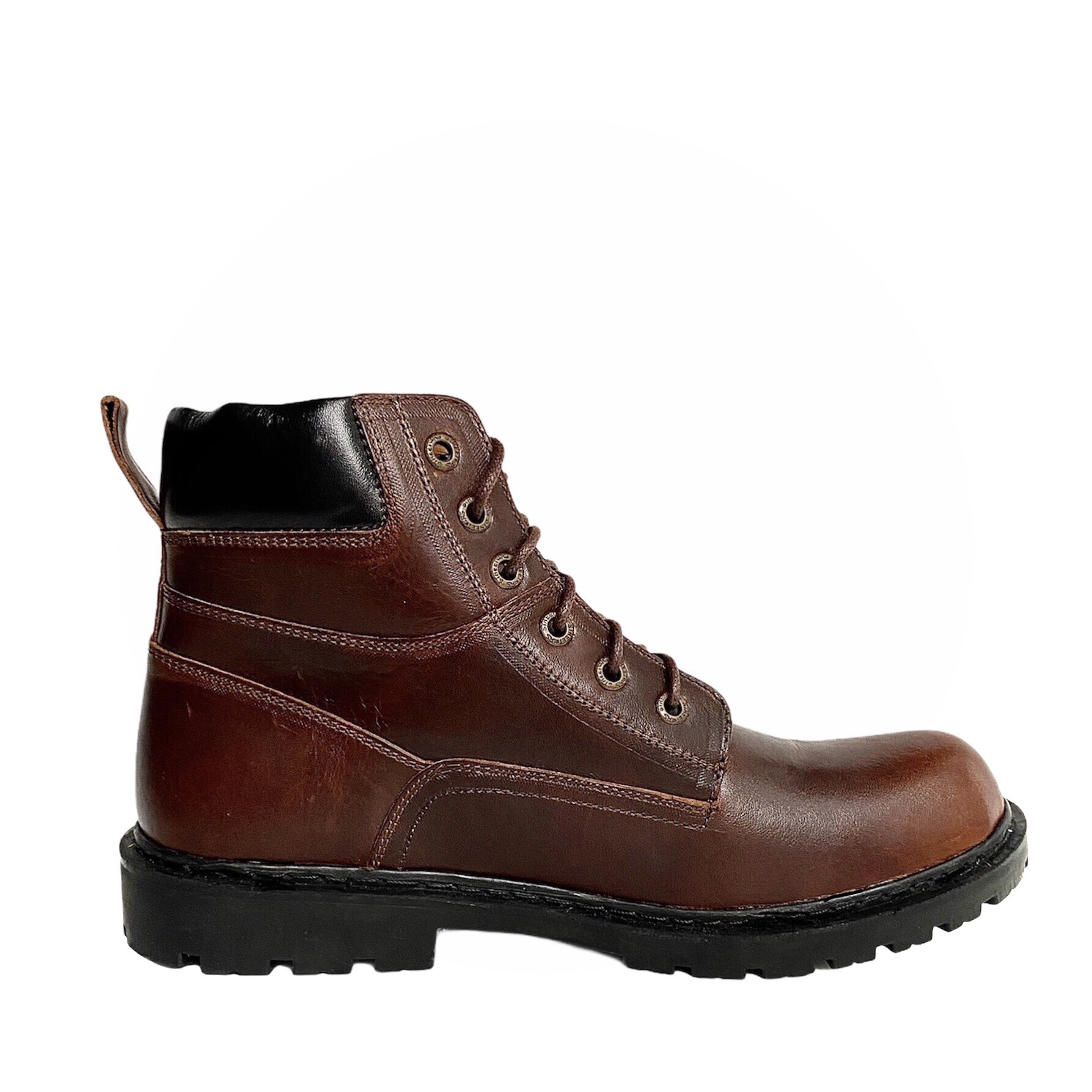 Giày Boots Nam Cổ Cao Da Bò Thật 100% Cao Cấp HN612 Nâu Size 38 - 44