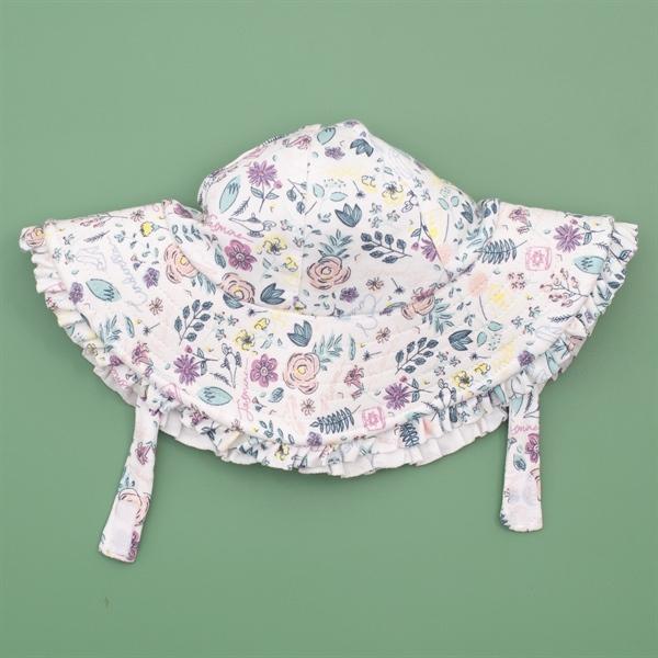 Mũ rộng vành họa tiết hoa lá cho bé