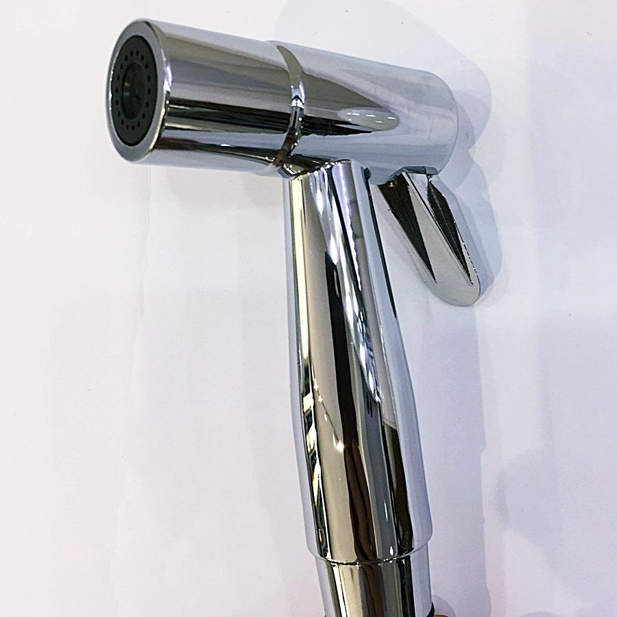 Vòi xịt vệ sinh đầu đồng mạ crom 5 lớp cao cấp