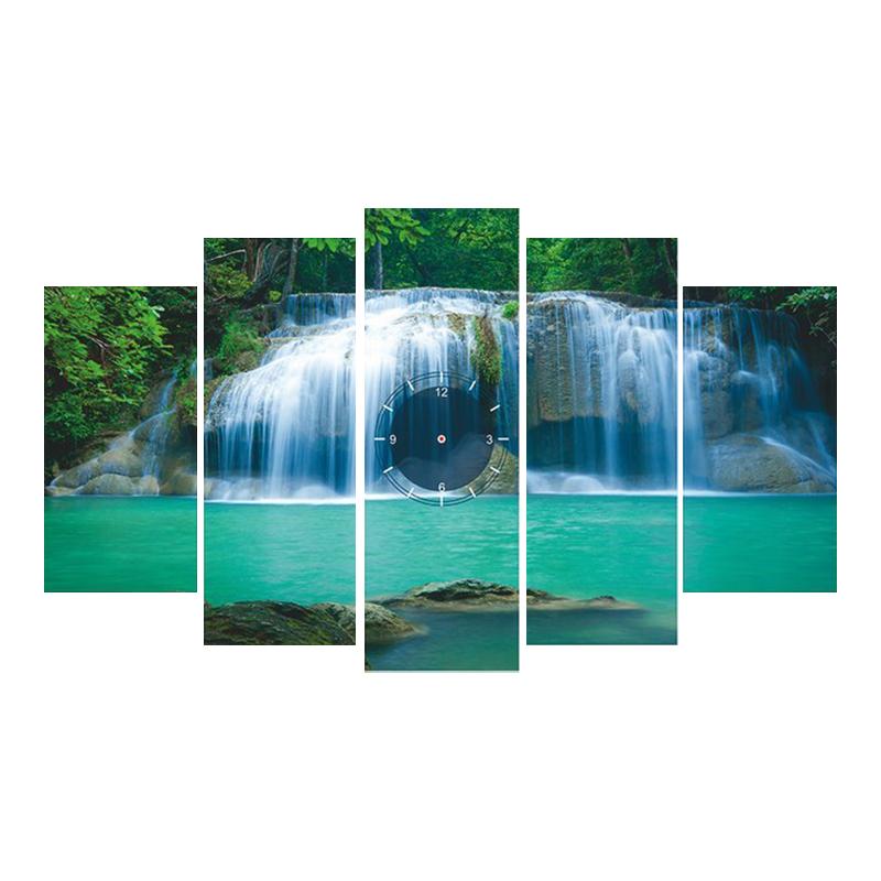 Tranh Đồng Hồ Thác Nước 3 TDH60