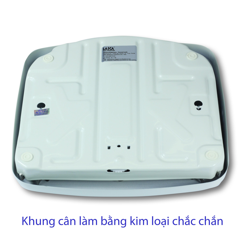 CÂN SỨC KHOẺ CƠ HỌC LAICA ITALY - 130 kg - Mặt cân phủ PVC chống trơn trượt