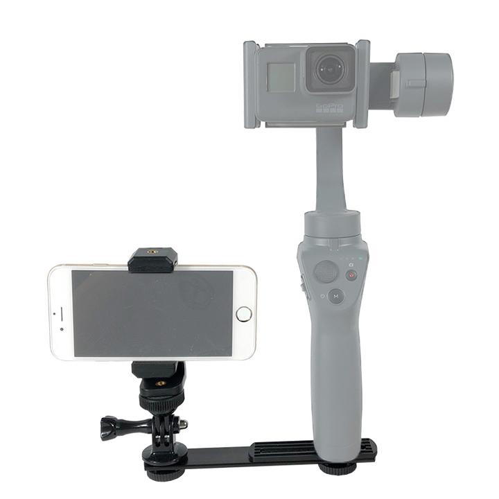 Bộ khung gắn Gimbal kết hợp với điện thoại Iphone