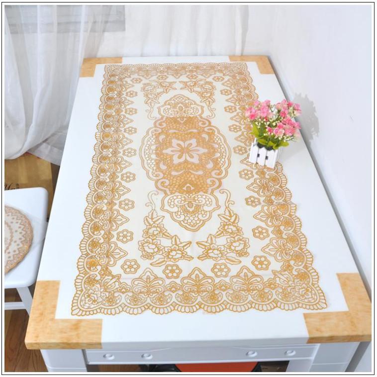 Khăn trải bàn kích thước 60x120cm, ren hoa cao cấp