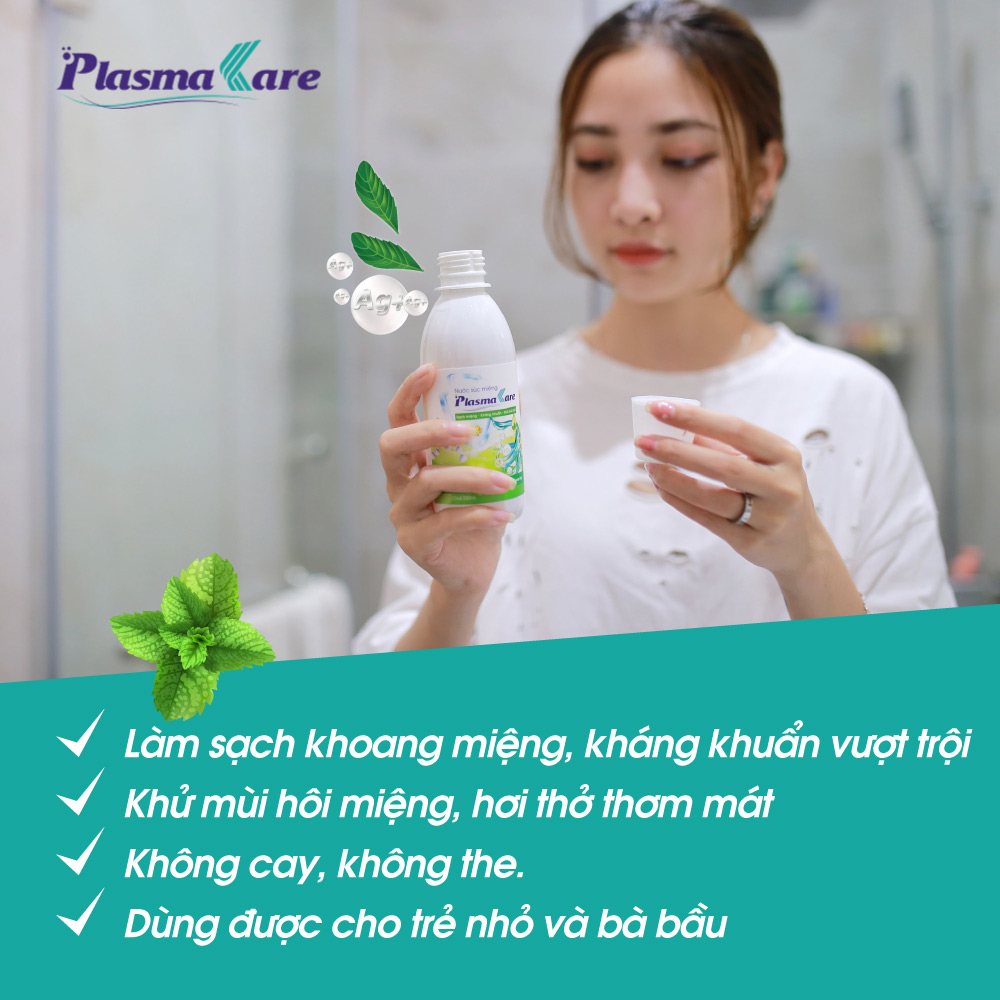 Combo 3 chai nước súc miệng PlasmaKare