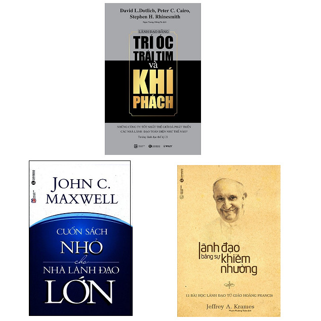 Bộ sách cẩm nang dành cho lãnh đạo: Cuốn Sách Nhỏ Cho Nhà Lãnh Đạo Lớn - Lãnh Đạo Bằng Trí Óc Trái Tim Và Khí Phách - Lãnh Đạo Bằng Sự Khiêm Nhường