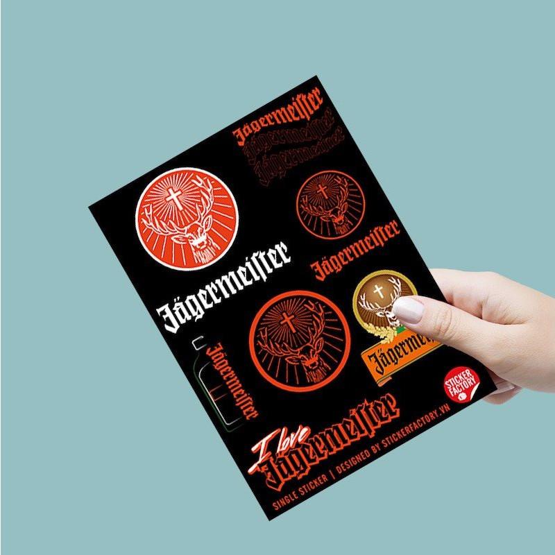 I love Jagermeister - Single Sticker hình dán lẻ