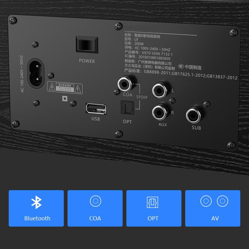 Loa Soundbar 5.1 Bluetooth Hát Karaoke L9 + Loa Trầm S1 Tặng 2 Micro Không Dây AZONE - Hàng Nhập Khẩu