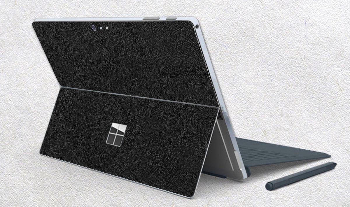 Skin dán hình Vân Da Bò Đen - Da031 cho Surface Go, Pro 2, Pro 3, Pro 4, Pro 5, Pro 6, Pro 7, Pro X