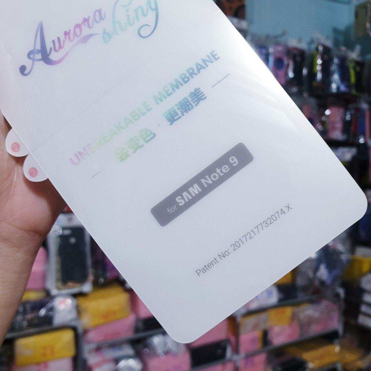 Miếng dán PPF mặt sau cho Samsung Galaxy Note 9
