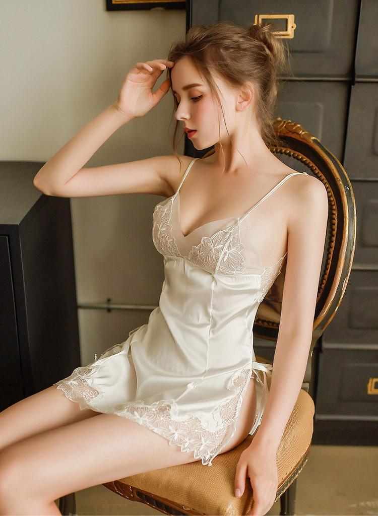 Váy ngủ lụa ren 2 dây sexy gợi cảm