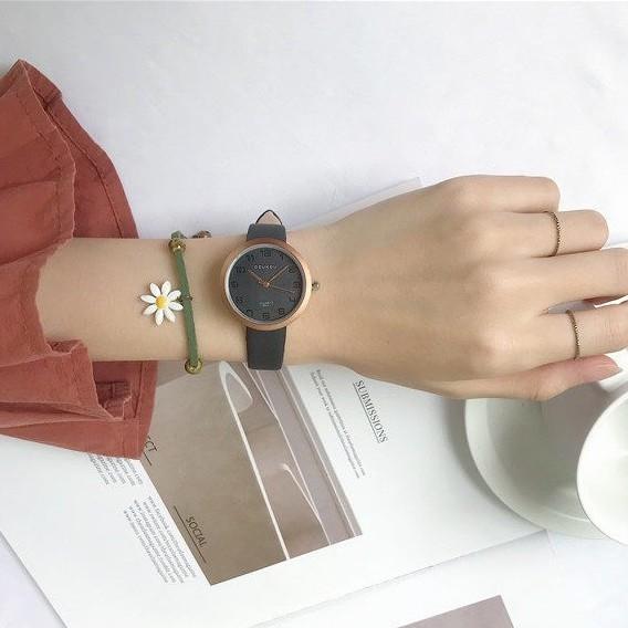 Đồng hồ nữ DKO mặt số thời trang thanh lịch