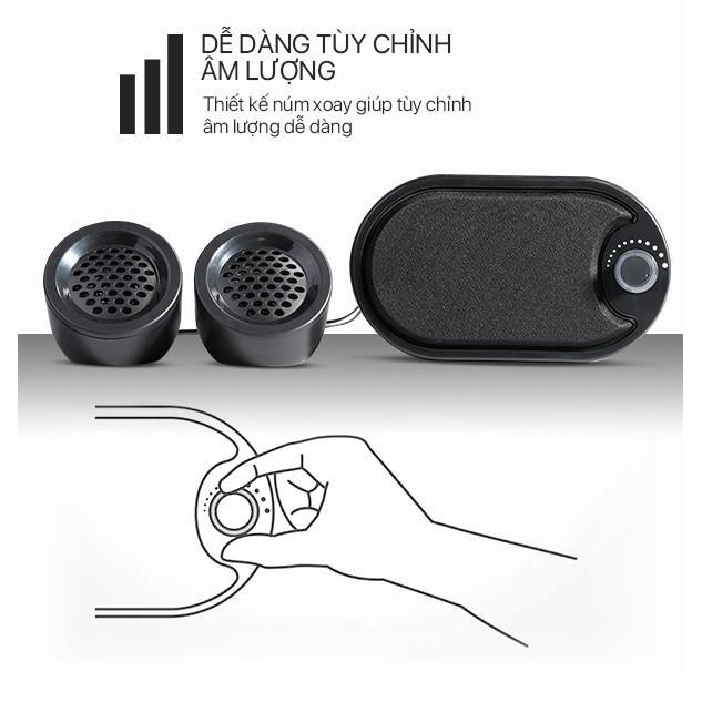 Loa Máy Tính / Laptop ROBOT Stereo Portable Nghe Nhạc Cực Hay - Hàng Chính Hãng