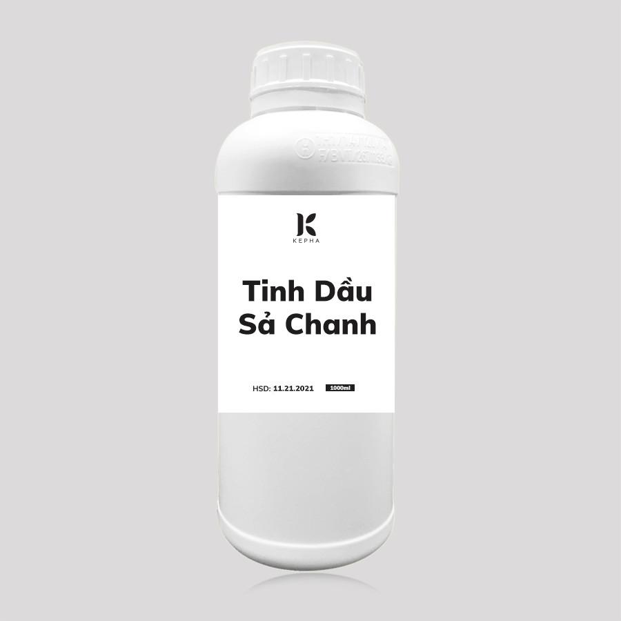 Tinh dầu Sả Chanh Kepha 1 lít - Nguyên chất 100%, nhập khẩu trực tiếp Ấn Độ - Đuổi muỗi, xông hơi giải cảm, chống nhiễm nấm