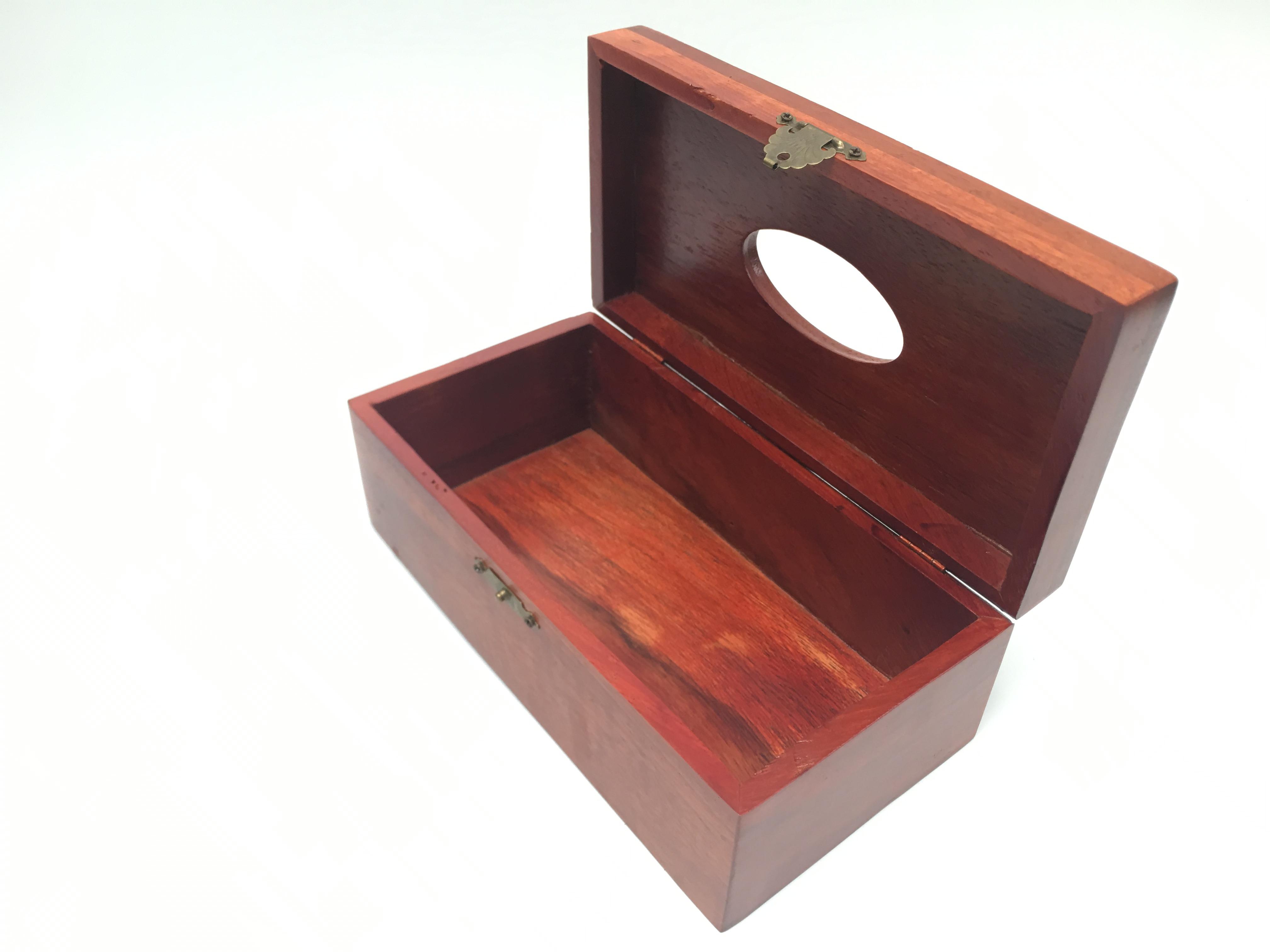 Hộp đựng giấy ăn gỗ hương kích thước 22x11x9cm