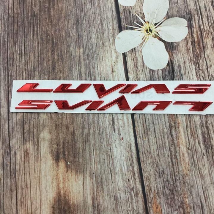 Tem nổi chữ LUVIAS -màu đỏ tân trang xe như mới A249