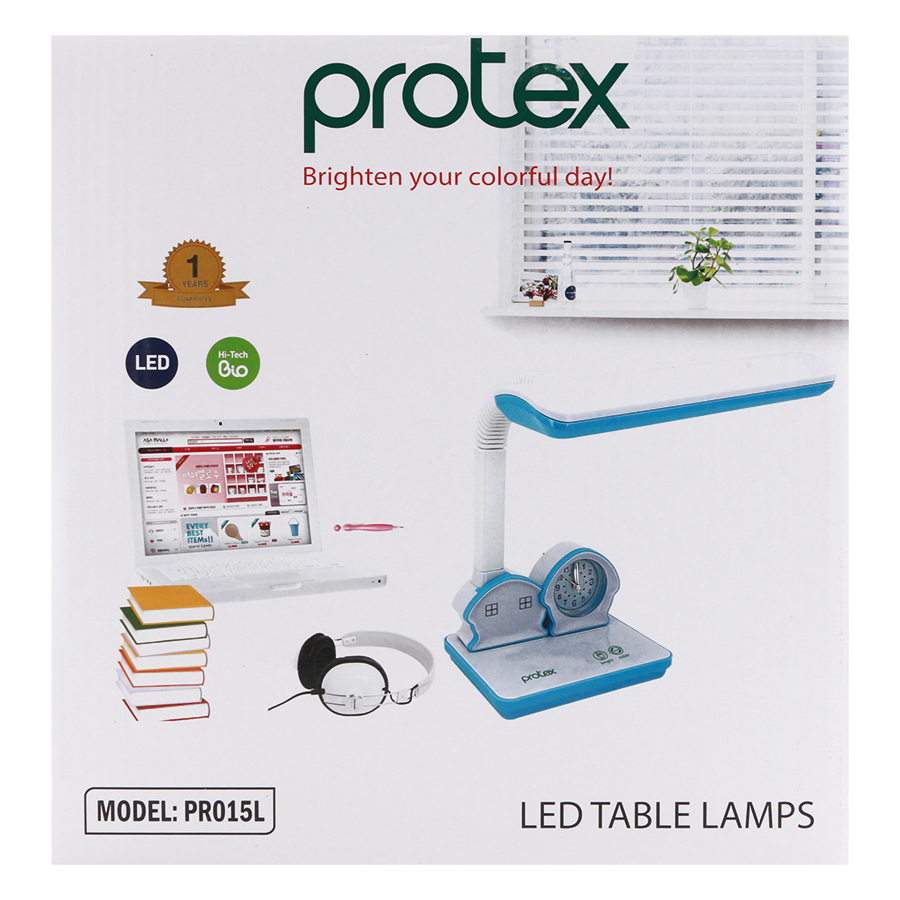 Đèn Bàn LED Chống Cận Thị PROTEX PR-015L - Hồng - Hàng Chính Hãng