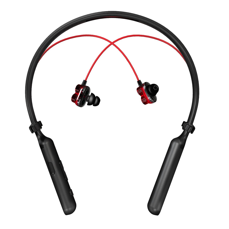 Tai nghe thể thao Bluetooth tốt Plextone BX345 true wireless pin lâu, headphone không dây cao cấp công nghệ Dual Dynamic Drivers Earphones double richbass, kháng nước, bụi chuẩn Ipx-5, BT4.1, thoại 10h, chờ 14 ngày - Hàng Chính Hãng.
