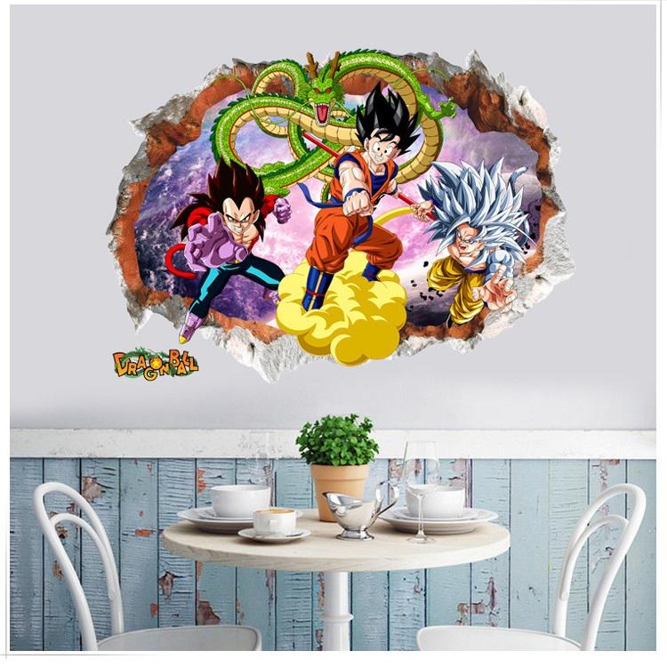 Decal dán tường anime 7 viên ngọc rồng - decal trang trí nhà cửa đẹp (50 x 70 cm)