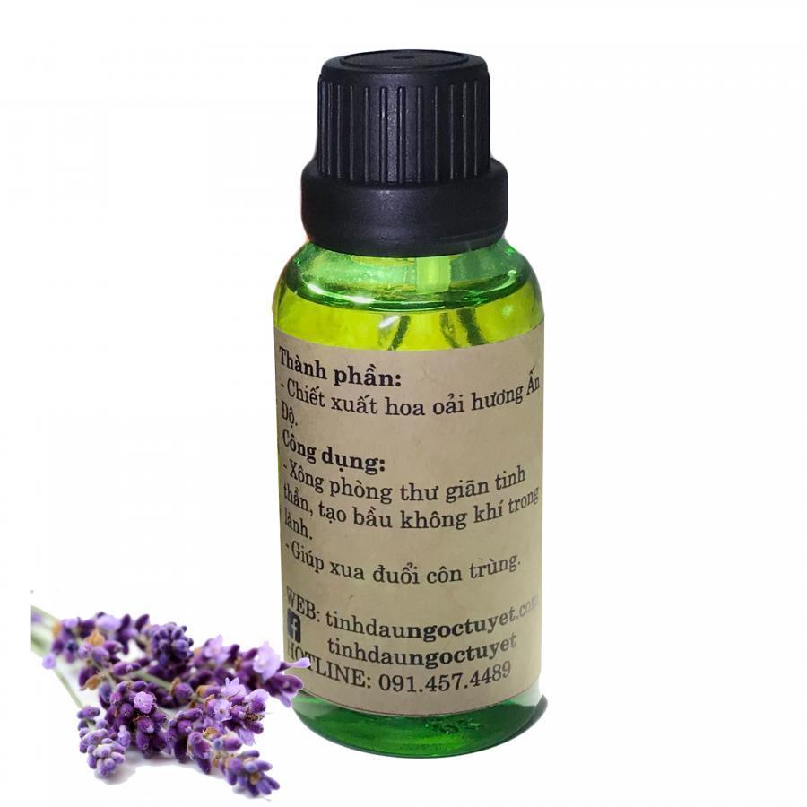 Combo 2 tinh dầu oải hương thiên nhiên giúp thư giản, dễ ngủ Ngọc Tuyết 50mlx2