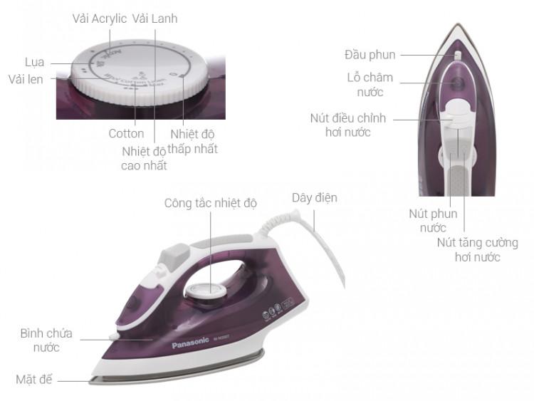 Thông số kỹ thuật Bàn ủi hơi nước Panasonic NI-M300TVRA