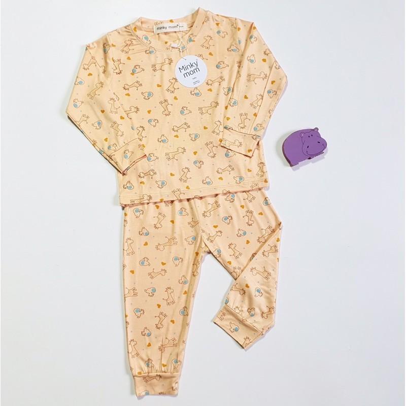 Bộ dài tay Minky Mom thun lạnh in hình dễ thương cho bé trai, bé gái từ 5-19kg