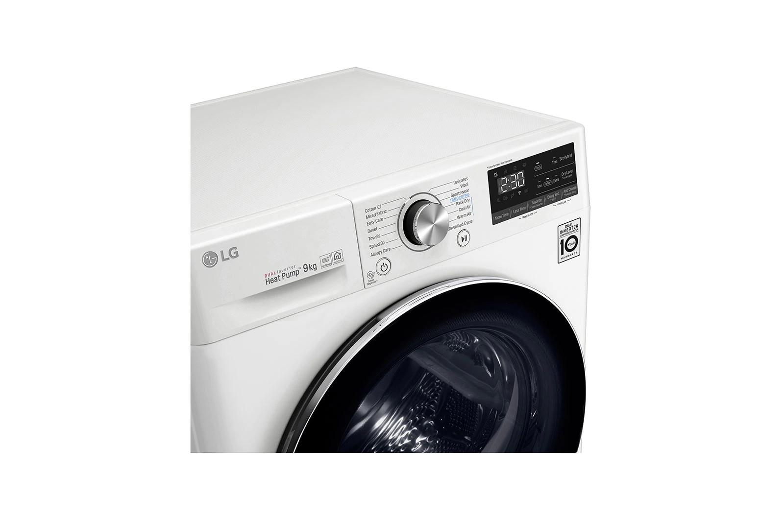 Máy sấy LG 9 Kg DVHP09W - HÀNG CHÍNH HÃNG - CHỈ GIAO TẠI HCM