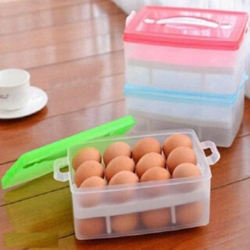 Hộp đựng trứng 2 tầng – Giao màu ngẫu nhiên