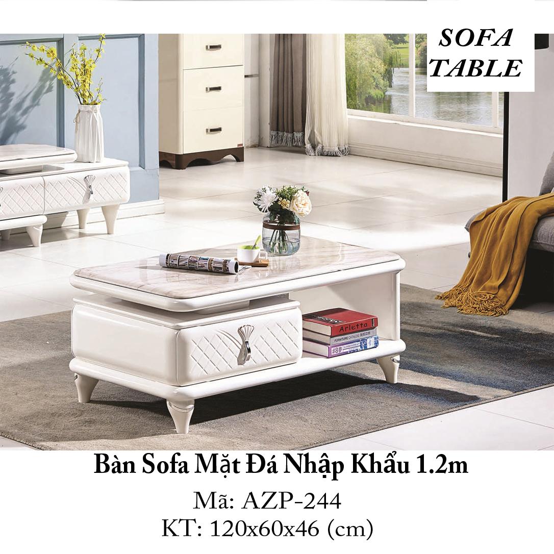 Bàn Sofa Mặt Đá / Dòng Cao Cấp - AZP-T244