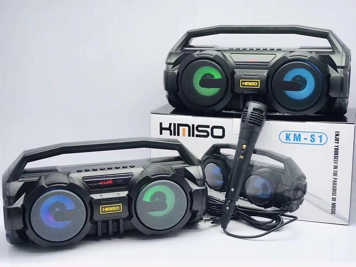 Loa Bluetooth Xách Tay KM-S1 xách tay - Đèn LED sống động- Tặng 1 micro VÀ Cáp sạc HAVIT